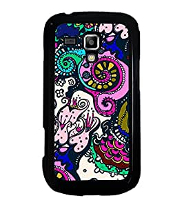 Colourful Pattern 2D Hard Polycarbonate Designer Back Case Cover for Samsung Galaxy S Duos S7562