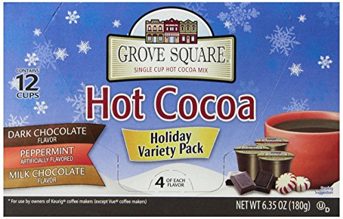 Grove Square Hot Cocoa, Milk Chocolate, 12 Single Serve Cups (Pack Of 3)