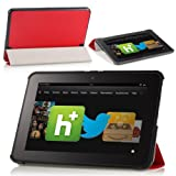 MoKo Ultra Slim Lightweight Smart-shell Stand Case For Amazon Kindle Fire HD 8.9-Inch Tablet RED (with Smart Cover...