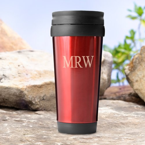 Personalized On-The-Go Travel Tumbler - Red