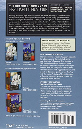 norton anthology of english literature 8th edition