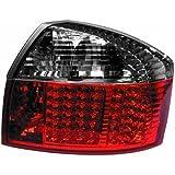 in.pro. 1017996 HD R�ckleuchten LED Kristall Audi A4 Limousine 00-04, rot - schwarz