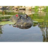 """22"""" Alligator Head Decoy & Pond Float with Reflective Eyes For Canada Geese & Blue Heron Control"""