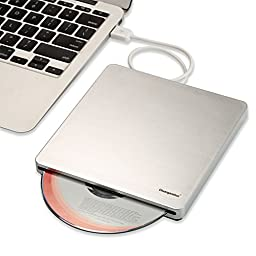 Chuanganzhuo External USB 2.0 Slot in DVD+RW Burner Writer Drive With USB Cable For Macbook Pro Air and Ultra Notebook PC Desktop Computer,Plug and Play,Silver