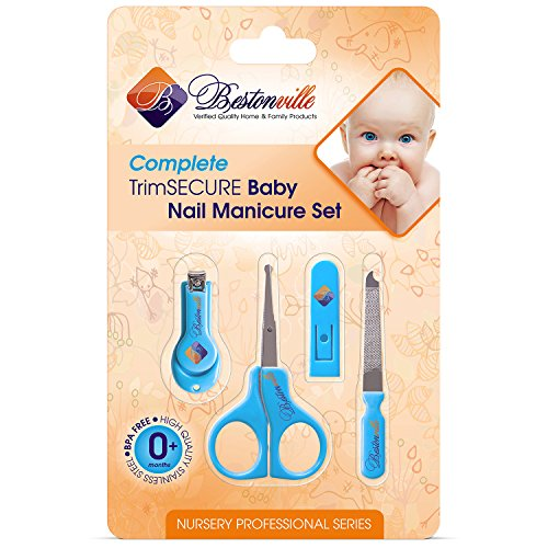 #1 Baby Nail Clippers Set with Scissors, File and Safety Grooming Tips: Proven Quality Personal Care Kit for Any Child, Newborn or Infant. Great Shower Gift - Lifetime Warranty