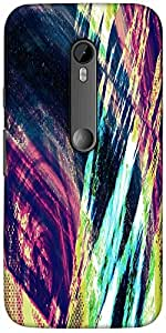 Snoogg Abstract Paintsolid Snap On - Back Cover All Around Protection For Mot...