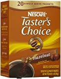 Nescafe Taster's Choice Hazelnut Instant Coffee Single Serve Packets, 20ct