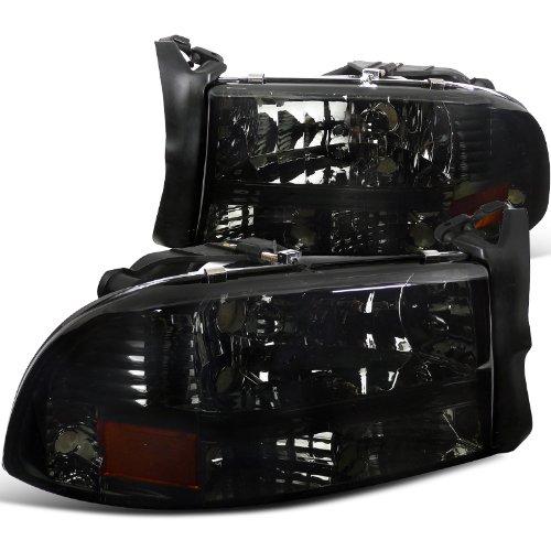 Dodge Dakota/ Durango Slt R/T Headlights W/Bumper Lights 1Pc. Smoked