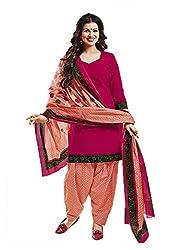Aarvi Women's Cotton Unstiched Dress Material Multicolor -CV00141