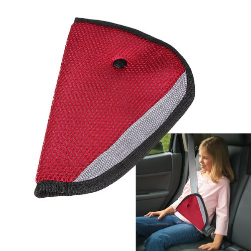 Issec Car Child Safety Cover Harness Strap Adjuster Kids Seat Belt Clip(Red)