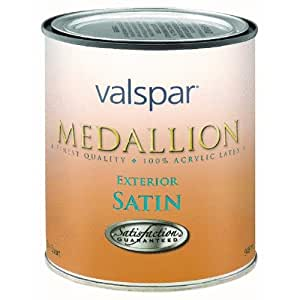 Valspar 1 Quart Satin Clear Base Medallion Exterior Latex House Paint 27 4105 Qt