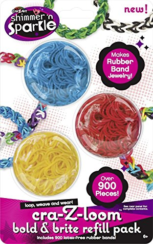 Shimmer n Sparkle Cra-Z-Loom Rainbow Bright Band Refill