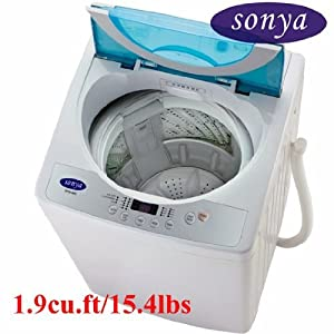 Sonya Compact Portable Apartment Small Washing Machine Washer 1.9cuft./15.4lbs/free