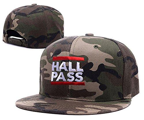 [Jeffrey Hall Pass Logo Embroidery Camo Cap Camouflage Snapback Hat] (Alexandra Bruce Costume)