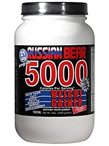 Amazon com vitol russian bear 5000 weight gainer supplement