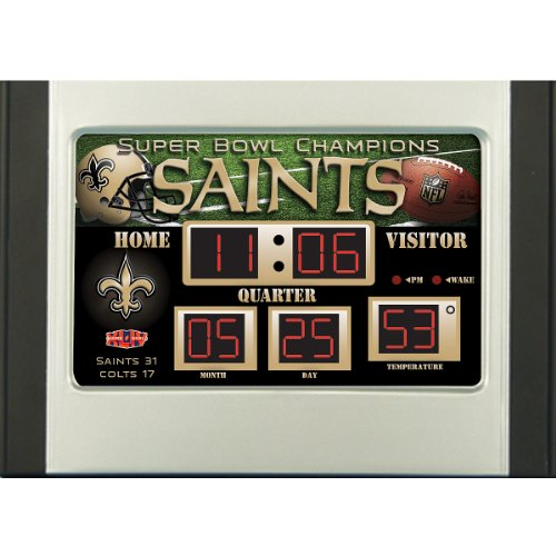Team Sports New Orleans Saints Scoreboard Desk Clock
