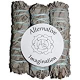 Premium California White Sage 4 Inch Smudge Sticks - 3 Pack, Alternative Imagination Brand By Alternative Imagination