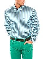 McGregor Camisa Hombre Maurice Marc B Bd Rf Ls (Azul / Verde / Blanco)