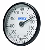 WIKA TI.ST Stainless Steel Surface Mount Bi-Metal Thermometer with Dual Magnet, 2