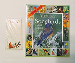 2 Item 2016 calendar Bundle - 1-2016 Audubon Songbirds & Other Backyard Birds and 1-MSPCI Magnetic Cardinal List Pad