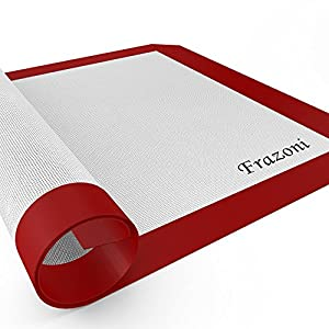 Silicone Baking Mat - Nonstick Silicone Bakeware - Don't Lose Any Other Cookie to Your Sheet, Tray or Pan. FREE Up Cleaning Time - Pastry, Pizza, Dough or Candy Won't Stick to This Liner! Goes to the Freezer, Microwave and Oven. Best Service, Lifetime Gua
