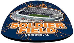 "NFL Chicago Bears Soldier Field in 2"" crystal magnetized paperweight with Colored Window Gift Box"