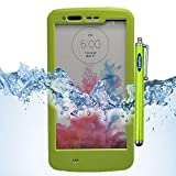LG G3 Case, Sophia Shop LG G3 Full-body Protective Waterproof Case, Slim Fitted [IP-68 6.6 ft Underwater Waterproof] [Shock Proof] [Dust Proof] [Dirt Proof] [Snow Proof] Hard Shell Triple Layer with Built-in Kick-Stand Armor Cover Case for LG G3 D850 D85 D855 VS985 LS990 Carrier Compatibility AT&T, Verizon, T-Mobile, Sprint, And All International Carriers with Retail Packing (Green)