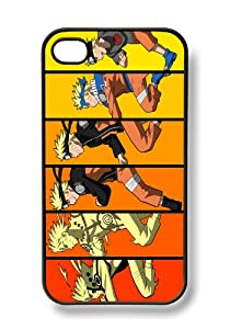 Apple iPhone 4 4G 4S Naruto Uzumaki Anime BLACK Sides Slim HARD Case Skin Cover Protector Accessory Unique Hipster Retro Vintage AT&T Sprint Verizon Virgin Mobile in Case Cartel Packaging