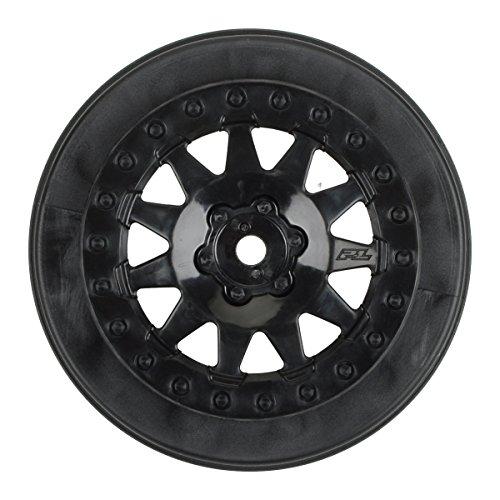 Pro-Line Racing 274003 F-11 2.2/3.0 Wheels for Protrac Kits, SCTE 4 x 4, Black (2) - 1
