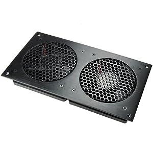 AC Infinity AI-CFD120BA Dual 120 Quiet Cabinet Fan, Black