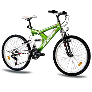 "24"" KCP JUGENDFAHRRAD KINDERFAHRRAD MOUNTAINBIKE PANTHERA 18 Gang weiss grün - 61,0 cm (24 Zoll) by KCP"