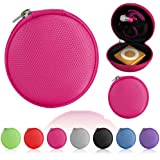 Magic Global Gadgets® - Pink MP3 / Earphones / Headphones / iPod Shuffle / iPod Nano 6 / Apple Watch Sport / Memory Cards / Storage Bag / Universal Carrying Clamshell Pouch Case Cover