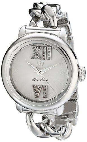 Glam Rock del vestido de las mujeres GR77031 de Visualización analógico de cuarzo suizo de Bal Harbour reloj de plata