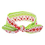 Banda ancha para niño, diseño de flores, color verde y rojo