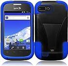 For ZTE Valet Z665C Fury Director N850 Cover Case (T-Stand Black/Dark Blue)