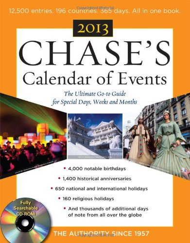Chase'S Calendar Of Events 2013 With Cd-Rom front-1013862
