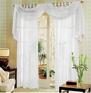 querbehang freihanddeko aus transparentem voile die. Black Bedroom Furniture Sets. Home Design Ideas