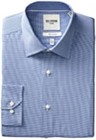 Ben Sherman Men's Tiny Gingham Slim Fit Dress Shirt