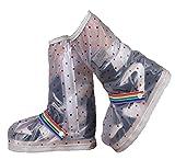 Zeroire 雨用靴カバー 防水 (女性用High-Mサイズ26.5x33cm)