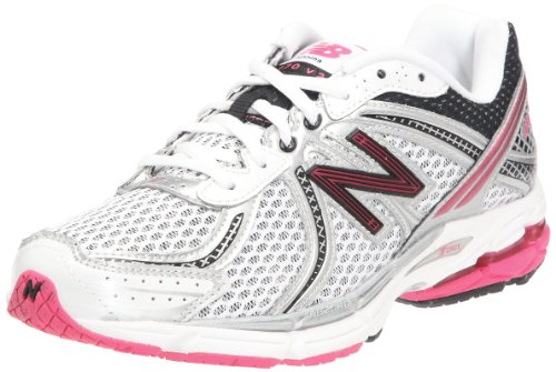 New Balance Women's W770KMM2 White/Pink Trainer 7 UK, 40.5 EU, 9 US B