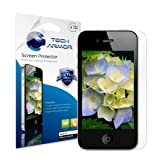 Tech Armor Apple iPhone 4/4S High Defintion (HD) Clear Screen Protectors - Maximum Clarity and Touchscreen Accuracy [3Pack] Lifetime Warranty ~ Tech Armor