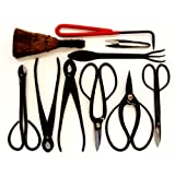 Stanwood Bonsai Tool 10-Piece Carbon Steel Shear Set and Tool Kit ~ Stanwood Bonsai Tool