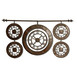 Uttermost Time Zones Wall Clock Uttermost