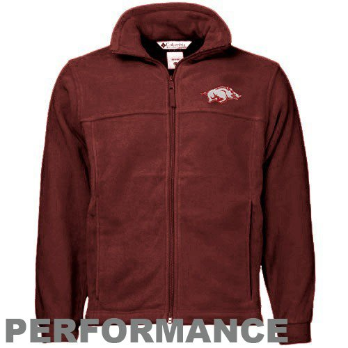 Columbia Arkansas Razorbacks Cardinal Flanker Full Zip Jacket (XX-Large) at Amazon.com