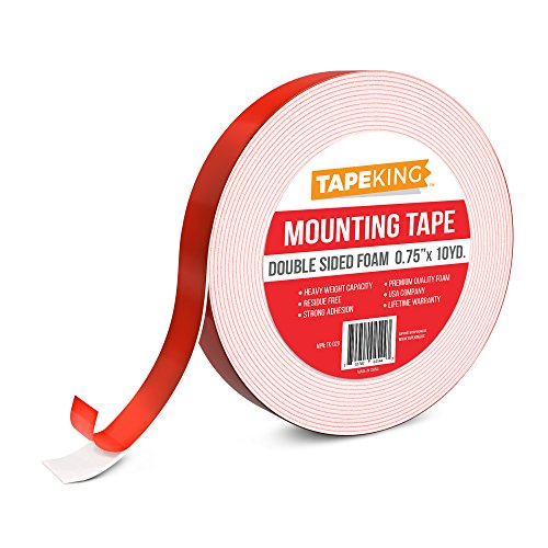 Tape King Foam Mounting Tape White, Double Sided 3/4 Inch x 9.7 Yards (Ac Duct Tape compare prices)
