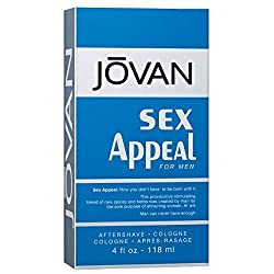 Jovan After Shave Cologne, Sex Appeal, 4 Fluid Ounce