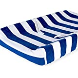 Babies R Us Deluxe Changing Pad Cover - Navy/White Stripes