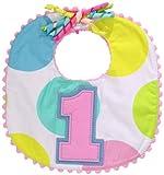 Mud Pie Baby-Girls Newborn First Birthday Girl Bib