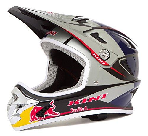 Kini Red Bull Downhill-Helm MTB Silber Gr. L