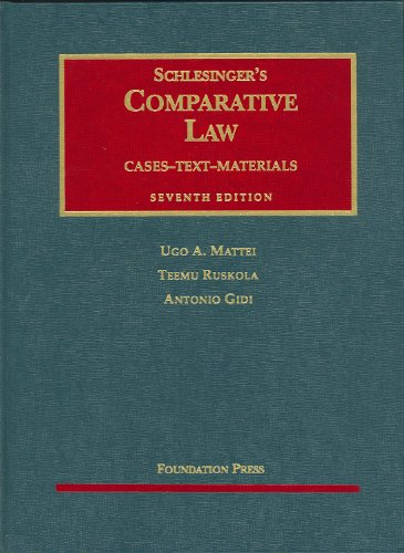 Image for publication on Schlesinger's Comparative Law: Cases, Text, Materials, 7th Edition (University Casebooks)